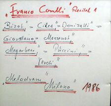 CD FRANCO CORELLI - recital 1, Melodram Live Recordings