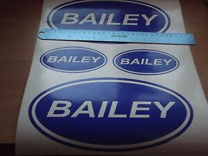 Bailey Vinyl Stickers large Caravan Camping  set x4
