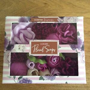 Purple Scented Fusion Luxury Floral Petals Soaps Boxed Flower Soap