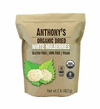 Anthony's Organic White Mulberries (2 lb) Sun Dried Non-Gmo & Gluten Free Tested