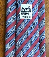 Guaranteed Authentic HERMES Silk Paris Necktie - MADE IN FRANCE 100% Heavy Silk