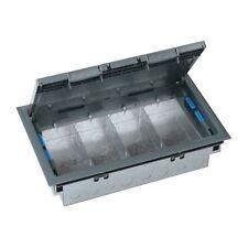 Legrand Electrak CR4001 Floor Service Outlet Box 4 Compartment Electric Socket