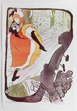 HENRI DE TOULOUSE LAUTREC Vintage 1969 French Poster JANE AVRIL #282
