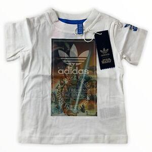Adidas Star Wars Kinder T-Shirt weiß Gr. 80 86 92 98 SW Archivet Kids