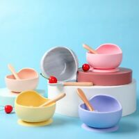 Baby Silicone Dishes Dining Plate Bowl Tableware Spoon Food Dinnerware For Kids