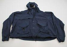 COLUMBIA #J2785 Men's Size XL Waterproof PERFORMANCE FISHING GEAR Blue Jacket