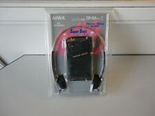 AIWA CR-12A YU FM/AM Receiver Radio Super Bass Stereo Headphones sealed NOS