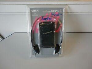 AIWA CR-12A YU FM/AM Receiver Radio Super Bass Stereo Headphones sealed NOS