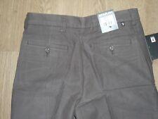 Farah Khaki Pantaloni chino jeans IN COTONE GAMBA DRITTA VELLUTO MARRONE W34