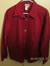 Coldwater Creek Womens Size Large Jacket 3 buttons and 2 pockets