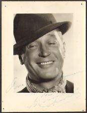 Maurice Chevalier. Photographe Houston Rogers. Dédicacée. Vers 1940
