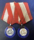 Imperial Russian 1888 Ski Medal Pair Rare