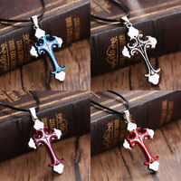 New Unisex's Men Women Stainless Steel Cross Pendant Necklace Chain Jewelry Gift