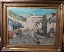 """Otto LARSEN (1889-?) """"nordafrikan. Stadtansicht"""" Öl/Malfaser,    201/12129"""