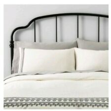 Hearth And Hand With Magnolia Twin Embroidered Duvet Cover Set New