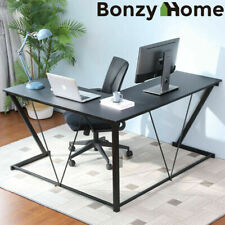 L-Shape Corner Computer Desk MDF Laptop PC Table Workstation Study Home Office