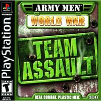 Army Men World War Team Assault Sony Playstation Game PS1 Used Complete