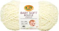 Lion Brand Baby Soft Boucle Yarn-Lemonade