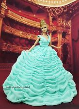 Eaki Mint Evening Silkstone Barbie Fashion Royalty Evening Dress Outfit Gown FR