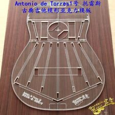 5pcs Classic guitar Transparent Acrylic Template guitar Making Mold 5mm thickess