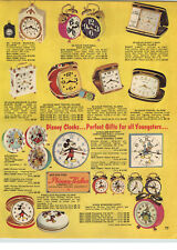 1970 PAPER AD Phinney Walker Disney Donald Duck Cinderella Mickey Mouse Clocks