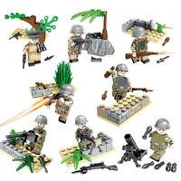 8pcs/set Militär Regenwald Soldat Krieg Basis Ausrüstung Mini Figur Spielzeug