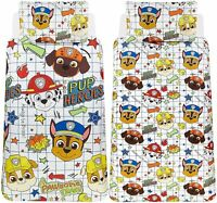 PAW PATROL GANG SINGLE DUVET COVER AND PILLOWCASE SET OFFICIAL BEDDING KIDS BOYS