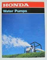 HONDA Water Pumps 1998 dealer brochure catalog - English - Canada