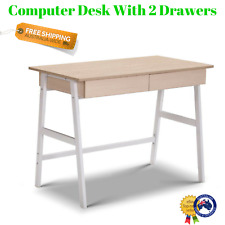 Student Computer Table Home Office Study Desk Drawers Scandi Design Console NEW