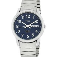 Timex T20031 Brand New Men's Easy Reader Dial Blue Indiglo S.Steel Dress Watch