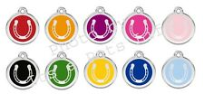 Horseshoe Enamel/Solid Stainless Steel Engraved ID Dog/Cat Tag