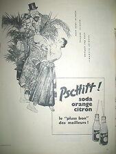 PUBLICITE DE PRESSE PSCHITT SODA PERRIER ILLUSTRATION CLOWNS FRENCH AD 1956
