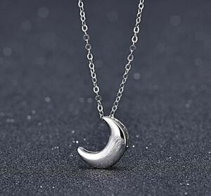 Moon Charm Pendant 925 Sterling Silver Chain Necklace Womens Jewellery Gifts UK