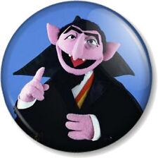 The Count 25mm Pin Button Badge Sesame Street Kids TV Jim Henson Muppet Vampire