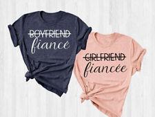 Girlfriend Fiancee T-shirt Boyfriend Fiance Shirt Engaged Matching Couples Tee