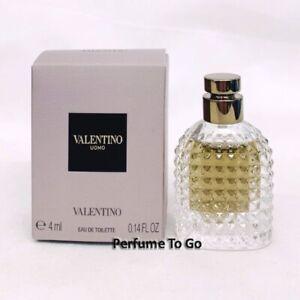 VALENTINO UOMO for MEN * 0.14 oz (4.0 ml) EDT Splash * Mini Sample * NEW in BOX