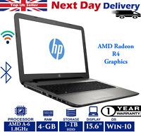 """HP 15-af153na 15.6"""" Laptop AMD A6-6310 1.80GHz Quad Core 4GB, 1TB HDD Windows 10"""