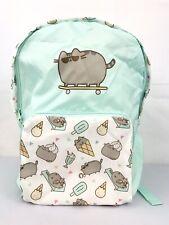 Pusheen Cat Skateboard Ice Cream Cute Pink School Book Bag Backpack NWT