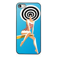 Retro Swimsuit Girl phone case fits iPhone