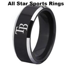 Tampa Bay Rays Black or Blue Tungsten Sport Band W/Silver Edges sizes 4-17