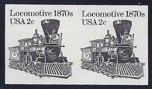 "1897Ac VF-XF Imperf Error Pair ""Locomotive"" Train Mint NH Cat $45"