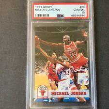 1993-94 NBA Hoops Michael Jordan #28 PSA 10 GEM MINT NEW LABEL