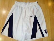 Game Worn Shorts 2016-17 Washington Huskies Basketball - Team Issued Home White
