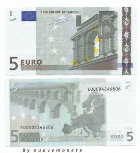 5 EURO TRICHET E SLOVACCHIA  E010... UNC E000042 .. NUMERAZIONE RARISSIMA