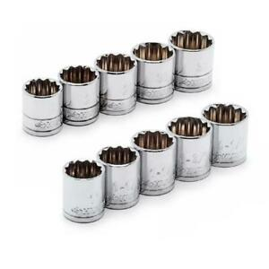 1/2 in. drive x-large sae/mm socket set (10-piece)