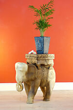 Side Table Elephant Wood Table Coffee Table Flower Stand Elephants Podium Asia