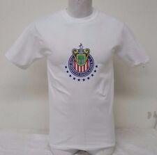 Chivas del Guadalajara Men's White T-shirt Straight Fit Heat Press Logo