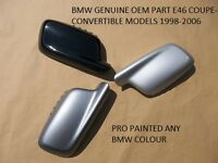 BMW 3 SERIES E46 COUPE OEM wing Mirror Cover R/H PAINTED ANY BMW COLOUR 98- 06