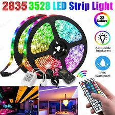 16.4FT RGB Flexible 300 LED Strip Light 3528 2835 SMD Fairy Lights Room TV Party