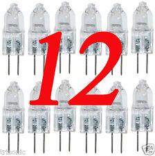 12 HALOGEN LIGHT BULBS 12V 20 WATT TYPE JC BASE G4 CLEAR BI-PIN HIGH LUMENS